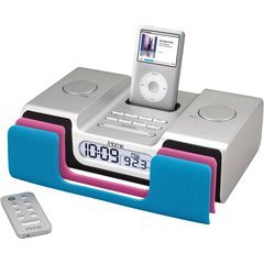 iHome iH56 Clock Radio with Dock for iPod (Silver)