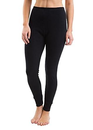 3 Pack Womens/Ladies Thermal Underwear Long Jane With Jacquard Rib Fabric, Black 8/10