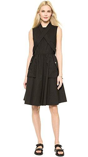 Marc By Marc Jacobs Women'S Washed Poplin Dress, Black, 6