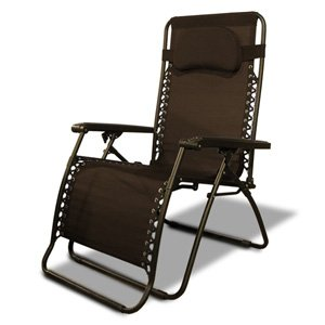 Caravan Canopy Oversize Zero Gravity Chair, Brown