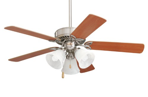 Emerson CF710BS Pro Series II Indoor Ceiling Fan, 42-Inch Blade Span, Brushed Steel Finish