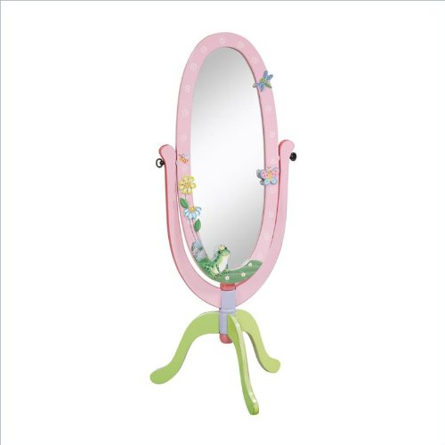 picture Teamson Kids Girls Standing Mirror - Magic Garden Room Collection
