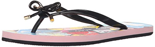 Kate spade new york Women's Nova Flip Flop, Black, 6 M US