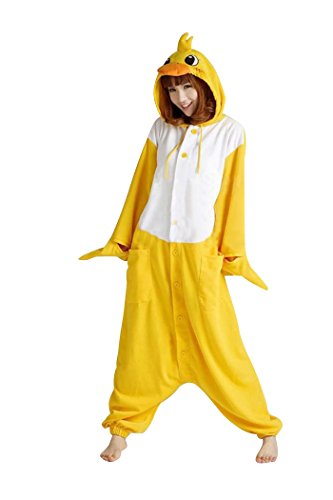 SaiDeng Kigurumi Pajamas Unisex Adult Cosplay Costume Animal Size M Duck