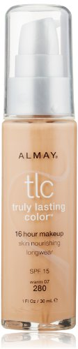 Almay TLC  Truly Lasting Color Makeup, Warm 280, 1-Ounce Bottle