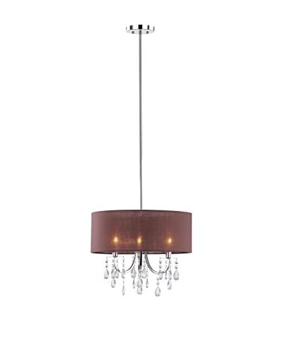 Safavieh Contessa Crystal Drum Pendant, Brown/Chrome