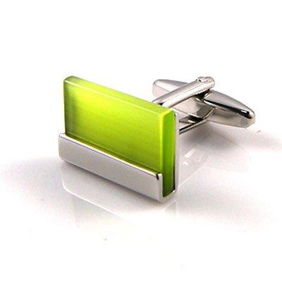 Light Green Bar Cuff Links