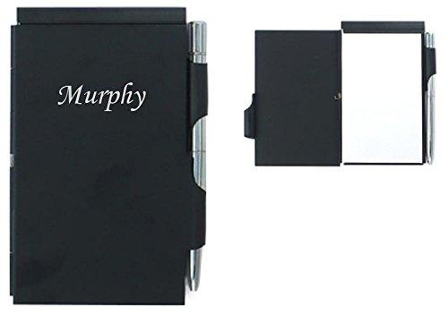 cuaderno-de-notas-con-un-boligrafo-nombre-grabado-murphy-nombre-de-pila-apellido-apodo