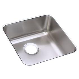 Elkay ELU1616 Gourmet Lustertone Undermount Sink, Stainless Steel