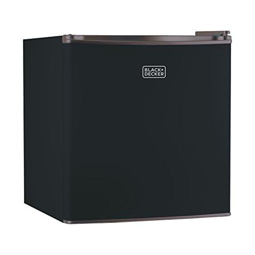 BLACK+DECKER BCRK17B 1.7 Cu. Ft. Energy Star Refrigerator with Freezer, Black (Black Refrigerator Small compare prices)