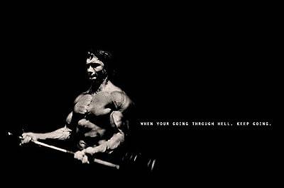 Keep Going Motivational Silk Poster Bodybuilding 24x36inch ARNOLD SCHWARZENEGGER