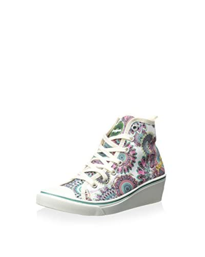 Desigual Women's Hightop Wedge Sneaker
