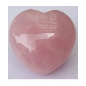 30mm Rose Quartz Puff Heart Worry Healing Stone