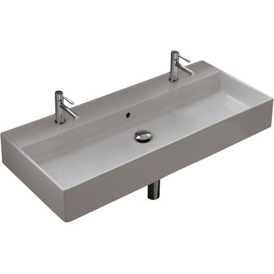 "Scarabeo Scarabeo 8031/R-100B-No Hole No Hole Bathroom Sink, 45"" L x 39.3"" W"