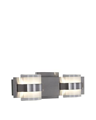 Alternating Current Restraint 2-Light Vanity, Polished Chrome