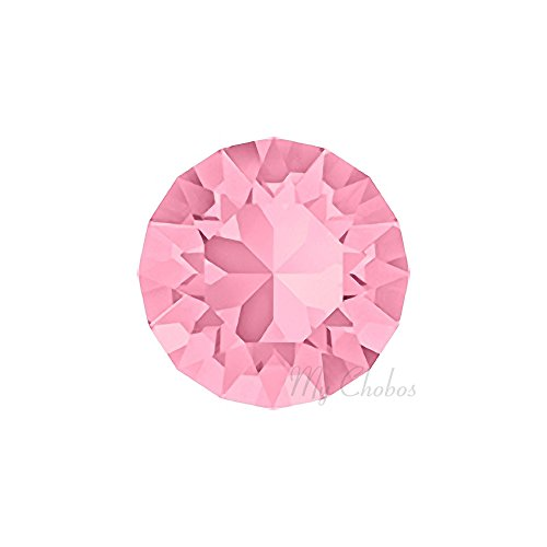 LIGHT ROSE (223) pink Swarovski 1088 XIRIUS Chaton Round Stones pointed back rhinestones ss39 (8.16 - 8.41 mm) 18 pcs (1/8 gross) *FREE Shipping from Mychobos (Crystal-Wholesale)*