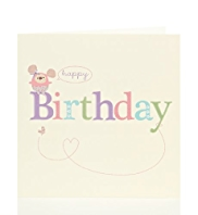 Cute Bear & Butterfly Birthday Card