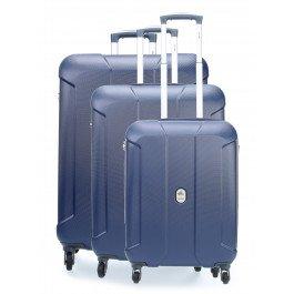 Delsey Cineos Set Set di valigie blu scuro
