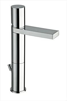 "Single Hole Bathroom Faucet with Single Handle Finish / Size: Black / 9.25"" H"