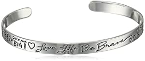 Sterling Silver Sentiment Cuff Bracelet from Amazon Collection