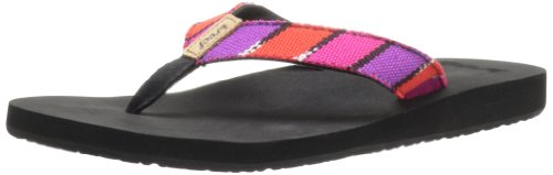 Reef Women's Guatemalan Love Flip Flop,Black/Hot Pink,9 M US