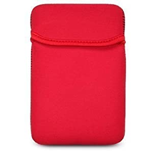 "King of Flash 6"" Red Soft Neoprene Sleeve Case for Kindle 4, Kindle Touch, kindle, 6 inch GoTab Digit, E-ink & Universal eBook Reader with 6"" Screen"