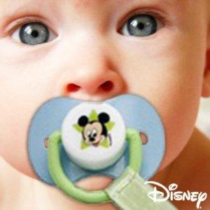 Sujetachupete y chupete caucho Mickey/Minnie (licencia oficial disney) marca atosa - BebeHogar.com