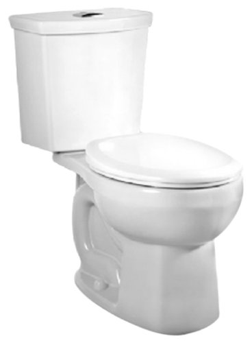 American Standard 2888.216.020 H2Option Siphonic Dual Flush Right Height Round Front Two-Piece Toilet, White