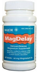 3 Pack] Magdelay® 64Mg Delayed-Release Magnesium Supplement 60 Count Tablets *Compare To The Same Active Ingredients In Slow-Mag® & Save!*