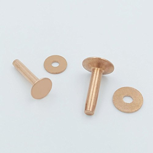 20 PCS Solid Red Copper Rivets Burrs Permanent Fasteners Gauge Tack (12x19mm) (Heavy Duty Sewing Ma compare prices)
