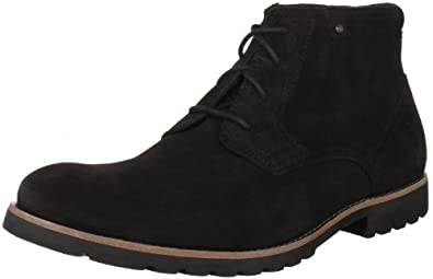 Rockport Men's Ledge Hill Lace-Up Boot, Bitter Chocolate Suede, 11 M US