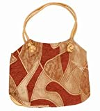 Shopping Bags Direct Maroon/Beige Velvet Venus 38 x 27 x 9