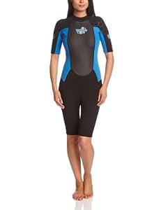 TWF Women's Turbo Shortie Wetsuit - Blue, Size 10