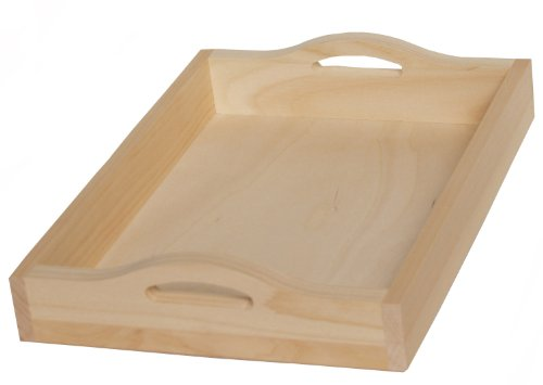 Walnut Hollow Unfinished Wood Serving Tray, 15-inch x 11-inch