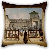 Elegancebeauty 16 X 16 Inches / 40 By 40 Cm Oil Painting Alfred Jacob Miller - Interior Of Fort Laramie Pillow Covers,both Sides Is Fit For Wife,him,bedroom,teens Girls,indoor,valentine