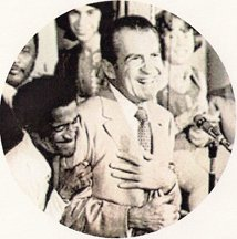 Richard Nixon and Sammy Davis Jr BFF Keychain