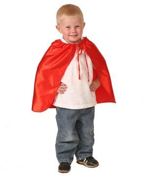 "Red 20"" Superhero Satin Cape"