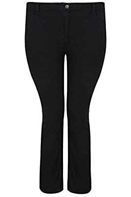 Yoursclothing Plus Size Womens Straight Leg 5 Pocket Jeans