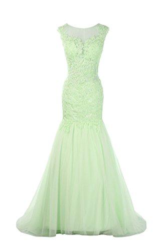 2092b1cca9 Voguevers Women s Lace Mermaid Wedding Dress Formal Evening Gowns Mint US 14