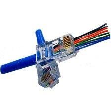 Platinum Tools EZ-RJ45 CAT5/5e Connectors Pack of 50 Clamshell-by-Platinum Tools