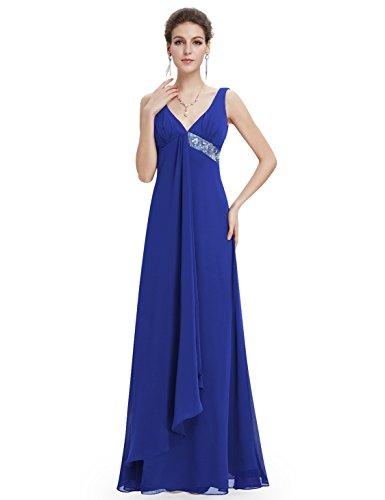 Ever Pretty Womens Floor Length Sequins Empire Waist Evening Gown 10 UK Sapphire Blue
