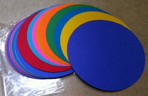 100 Color Construction Paper Die-Cut Circles 9.75 inch diameter