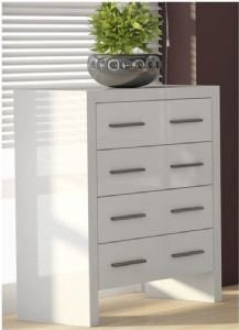 Alabama Narrow Chest of Drawers Matt White P849AL44