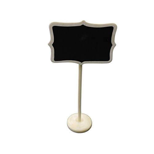 Quasimoon Large Rectangular Standing Wedding Chalkboard Sign Table Number Holder by PaperLanternStore (Large Chalkboard Table Numbers compare prices)