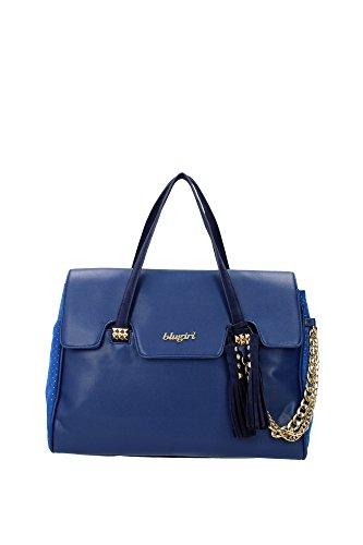 Bauletti Blugirl - Blumarine Donna Tessuto Blu e Oro 630106633 Blu 16x29x37 cm