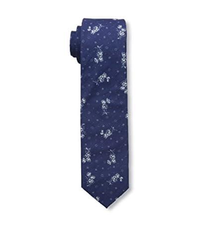 J. McLaughlin Men's Floral Tie, Blue Floral