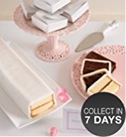 Sponge White Icing Cutting Bar Cake