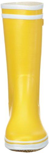 Aigle Malouine BT Gummistiefel 2479 Damen Ungefüttert Gummistiefel Halbschaft Stiefel & Stiefeletten, Gelb (jaune / blanc 3), 40 -