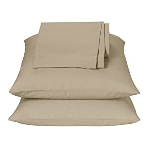 "Extra Deep Pocket Sheets - Queen Size - 20"" - Linen - Closeout"