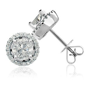 Quattour for Amoro Diamond Earrings in 18kt White Gold
